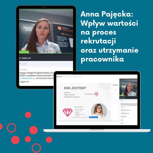 Anna Pajęcka Wpływ wartości na proces rekrutacji oraz utrzymanie pracownika